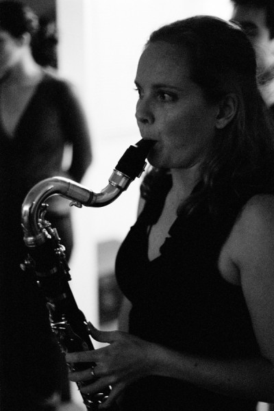 """Ariana Lamon-Anderson performs with the group """"Odd and Even"""" at the Park Gallery in San Diego CA. ©2012 James Patrick Griffin"""